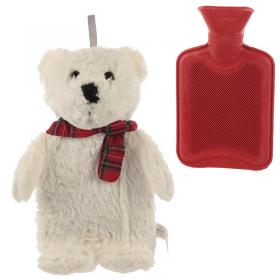 Polar Bear Plush Hot Water Bottle and Cover