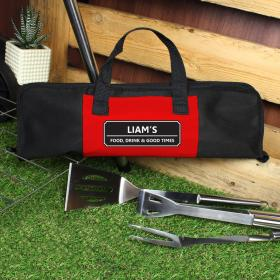 BBQ Stainless Steel Set and Personalised Carrying Case - Classic
