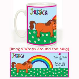 Pony Personalised Message Mug