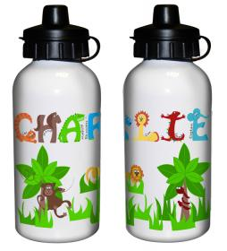 Animal Alphabet Personalised Drinks Bottle - Boys