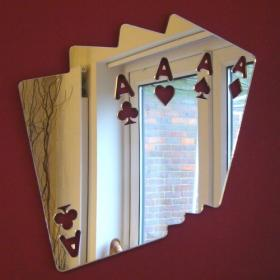 Card Aces High Mirror - 32cm