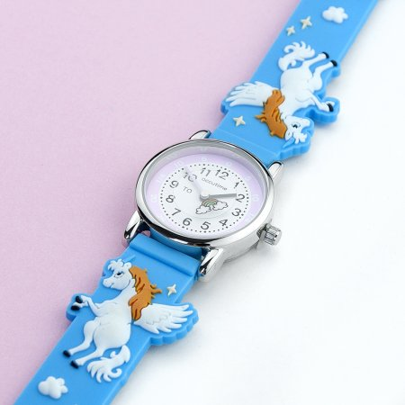 Unicorn Personalised Children's Rainbow Watch - Blue