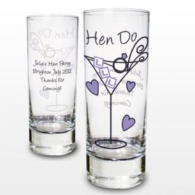 Hen Do Personalised Shot Glass