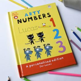 Arty Mouse Numbers Personalised Activity Book