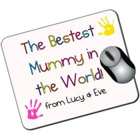 Bestest Mummy in the world Personalised Mouse Mat