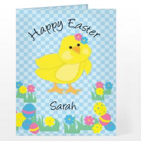 Easter Chick Personalised Message Card