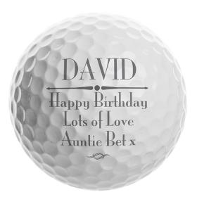 Golf Personalised Message Ball