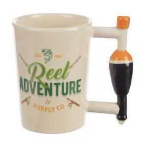 Fishing Float Shaped Handle Ceramic Mug