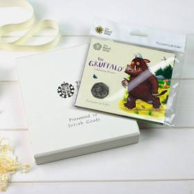 Gruffalo Uncirculated Royal Mint 50p with Personalised Gift Box