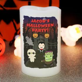 Halloween Personalised LED Candle