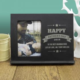 Dad's Personalised Frame Of Honour Slate Photo Frame