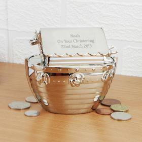 Ark Personalised Money Box - Nickel Plated
