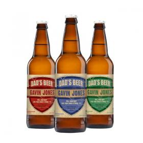 Dad's Personalised Craft Beer - Pack of 3