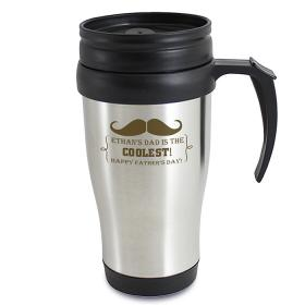 Moustache Personalised Thermal Travel Mug