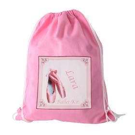 Ballet Shoes Personalised Kit Bag - Pink