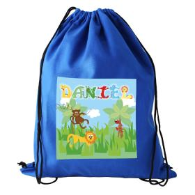 Animal Alphabet Personalised Boy's Kit Bag - Blue