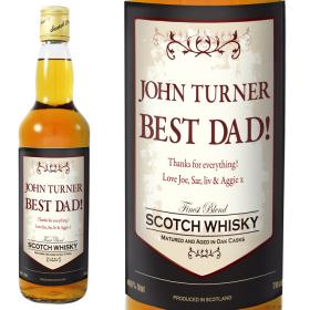 Whisky with Classic Personalised Label & Gift Box