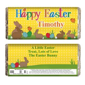 Easter Bunny Personalised Chocolate Bar