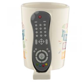 TV Remote Shaped Handle Ceramic Garden Mug