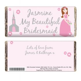 Bridesmaid Personalised Chocolate Bar