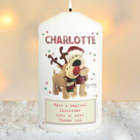 Boofle Personalised Christmas Reindeer Candle