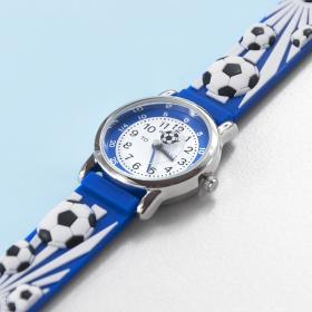 Football Personalised Children's Watch - Blue