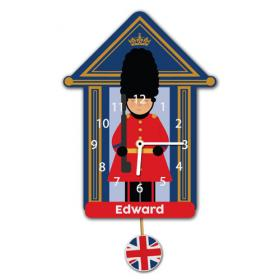 Beefeater Soldier Personalised Pendulum Wall Clock