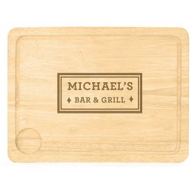 Bar & Grill Personalised Wooden Carving Board