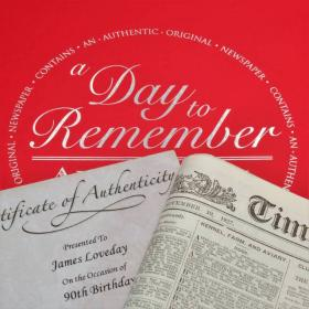 Any Day - Original Newspaper with Gift Box
