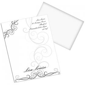 Black Swirl Personalised Stationery Set