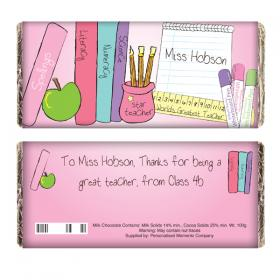 Teacher Personalised Chocolate Bar - Female Teacher