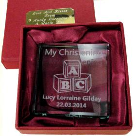 ABC Personalised Christening Jade Block