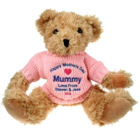 Mother's Day Personalised Teddy Bear - Pink Jumper