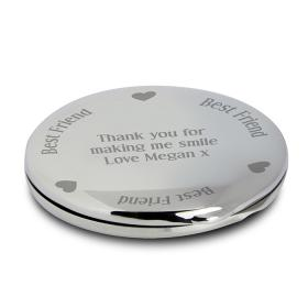 Best Friend Personalised Compact Mirror- Nickel Plated