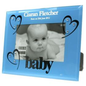 1st Birthday Personalised Photo Frame - Blue
