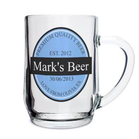 Tankard Personalised Beer Label