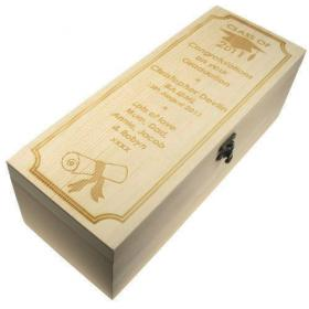 Graduation Personalised Class Year Champagne Box -Laser Engraved