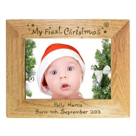 1st Christmas Personalised Photo Frame