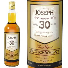 Whisky with Age Personalised Label