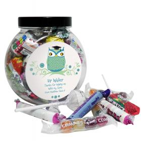 Teacher Personalised Mr Owl Sweet Jar