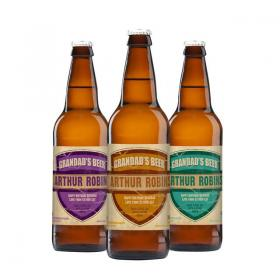 Grandad's Personalised Craft Beer - Pack of 3