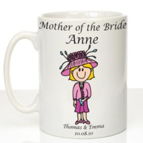 Mother of the Bride Personalised Message Mug