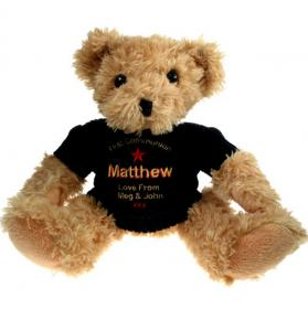 1st Confirmation Personalised Teddy Bear - Blue Jumper