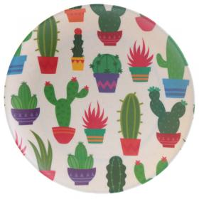 Cactus Design Bambootique Eco Friendly Plate