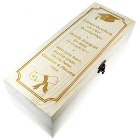Graduation Personalised Champagne Box - Laser Engraved