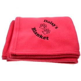 Cat Personalised Luxury Blanket - Pink