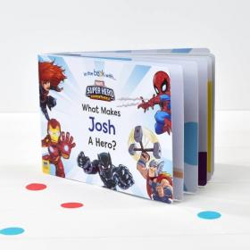 What Makes Me a Hero Personalised Marvel Board Book