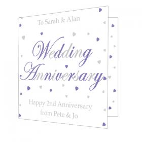 Anniversary Personalised Card - Wedding Anniversary