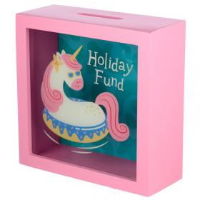Unicorn Holiday Fund - See Your Savings Money Box