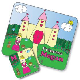 Princess Personalised Placemat and Coaster Set